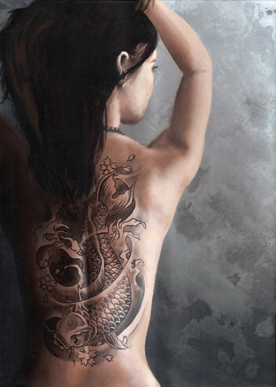 Tatouage Dos Femme Japonais Marie Anais Tattoo